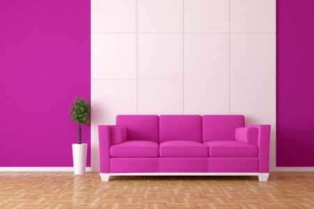 Modern Interior mit sofa  Standard-Bild - 7925151