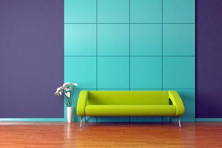 Modern Interior mit sofa  Standard-Bild - 7925153
