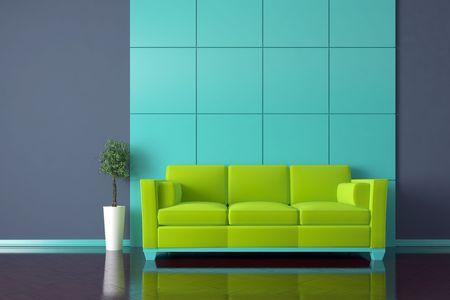 Modern Interior mit sofa  Standard-Bild - 7925150