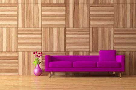 Modern Interior mit sofa  Standard-Bild - 7925156