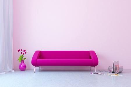 stateroom: Modern interior with sofa