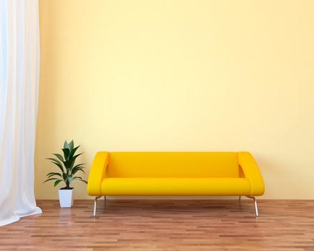Modern interior with sofa Stock Photo - 8796723