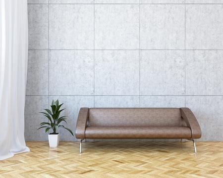 sala recepcyjna: Nowoczesne wnÄ™trza z sofa