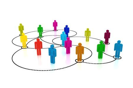 Soziales Netzwerk  Standard-Bild - 9655439