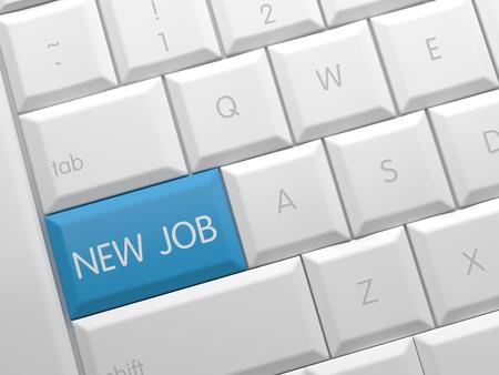 e recruitment: New job Stock Photo