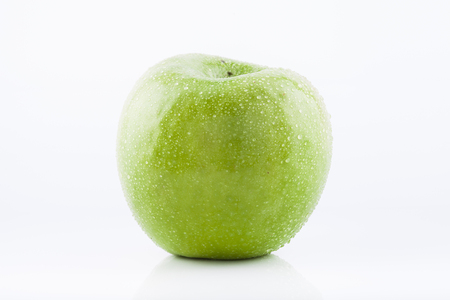 granny smith: Green Granny Smith apple Stock Photo