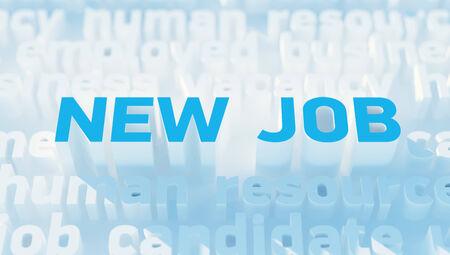 New job keywords Stock Photo - 27464759