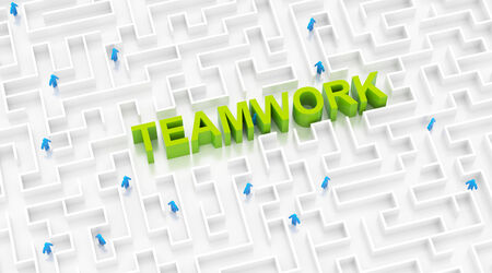 Teamwork success concept