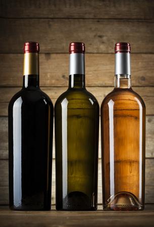 aligote: Set of wine bottles ready for branding Stock Photo