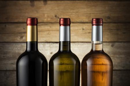 drink bottle: Set of wine bottles ready for branding Stock Photo