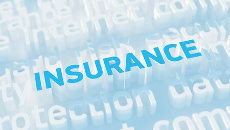 keywords: Word Insurance with keywords Stock Photo