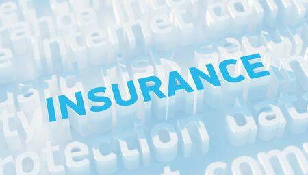 keywords: Word Insurance with keywords Stock Photo