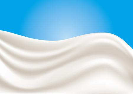 Een scheutje melk. Vector illustratie.