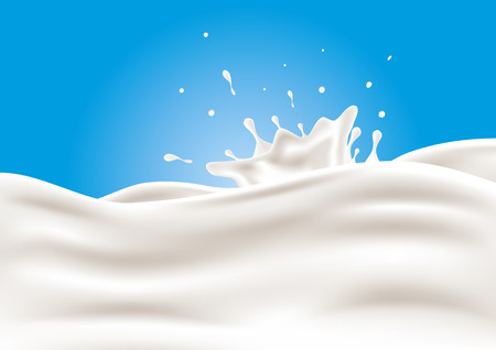 yaourt: Un peu de lait. Vector illustration.