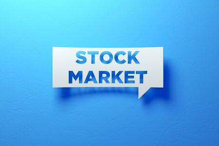 White Chat Bubble representing success investments. 3D illustration Standard-Bild - 134687239