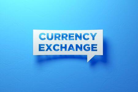 White Chat Bubble representing success investments. 3D illustration Standard-Bild - 134687240
