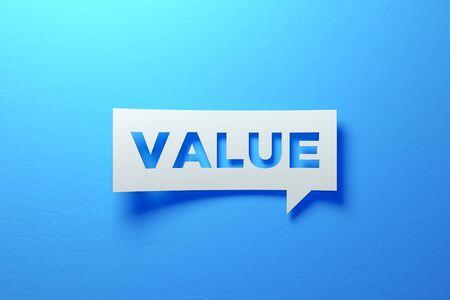 White Chat Bubble representing success investments. 3D illustration Standard-Bild - 135135365