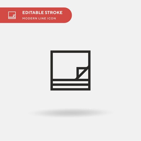Paper Simple vector icon. Illustration symbol design template for web mobile UI element. Perfect color modern pictogram on editable stroke. Paper icons for your business project 일러스트