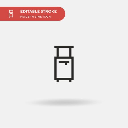 Suitcase Simple vector icon. Illustration symbol design template for web mobile UI element. Perfect color modern pictogram on editable stroke. Suitcase icons for your business project Illustration