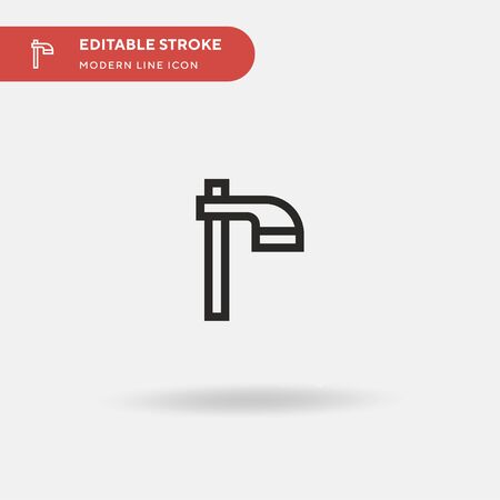 Hoe Simple vector icon. Illustration symbol design template for web mobile UI element. Perfect color modern pictogram on editable stroke. Hoe icons for your business project
