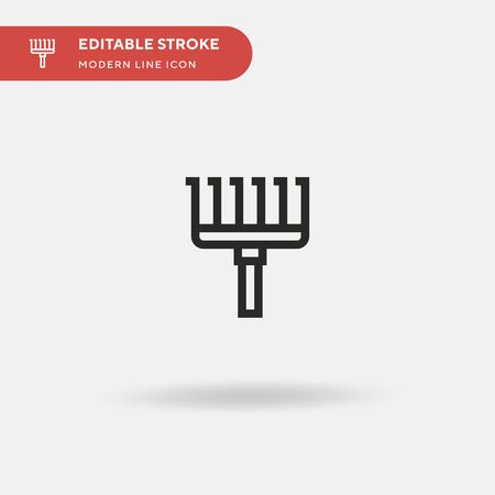 Rake Simple vector icon. Illustration symbol design template for web mobile UI element. Perfect color modern pictogram on editable stroke. Rake icons for your business project