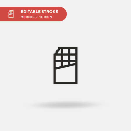 Chocolate Bar Simple vector icon. Illustration symbol design template for web mobile UI element. Perfect color modern pictogram on editable stroke. Chocolate Bar icons for your business project Çizim