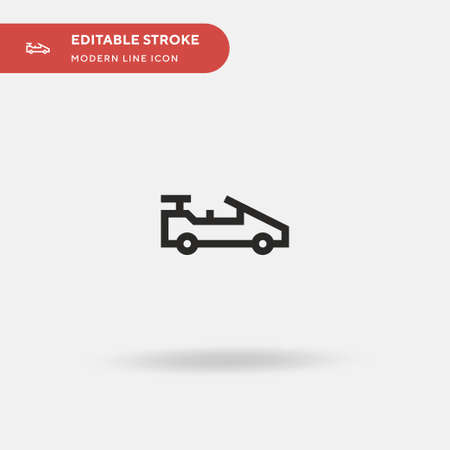 Supercar Simple vector icon. Illustration symbol design template for web mobile UI element. Perfect color modern pictogram on editable stroke. Supercar icons for your business project