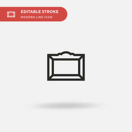 Frames Simple vector icon. Illustration symbol design template for web mobile UI element. Perfect color modern pictogram on editable stroke. Frames icons for your business project Stock Illustratie