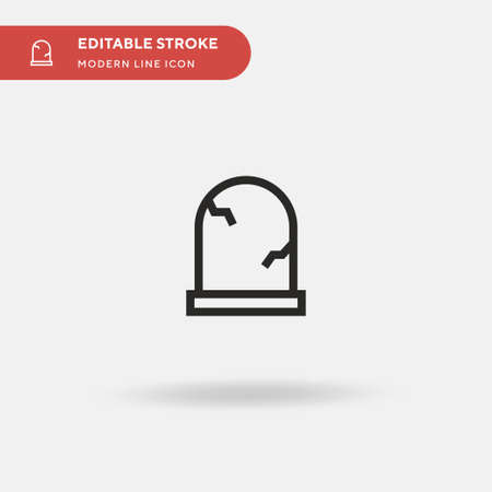 Grave Simple vector icon. Illustration symbol design template for web mobile UI element. Perfect color modern pictogram on editable stroke. Grave icons for your business project