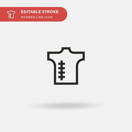 Scar Simple vector icon. Illustration symbol design template for web mobile UI element. Perfect color modern pictogram on editable stroke. Scar icons for your business project Stock Illustratie