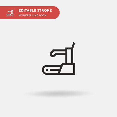 Treadmill Simple vector icon. Illustration symbol design template for web mobile UI element. Perfect color modern pictogram on editable stroke. Treadmill icons for your business project