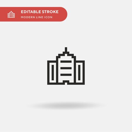 Office Building Simple vector icon. Illustration symbol design template for web mobile UI element. Perfect color modern pictogram on editable stroke. Office Building icons for your business project  イラスト・ベクター素材