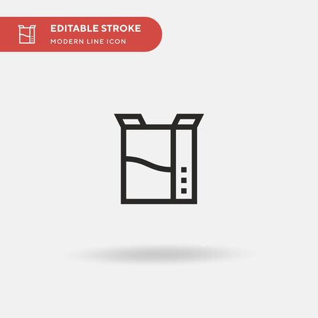 Cereal Simple vector icon. Illustration symbol design template for web mobile UI element. Perfect color modern pictogram on editable stroke. Cereal icons for your business project