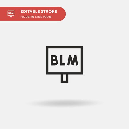 Blm Simple vector icon. Illustration symbol design template for web mobile UI element. Perfect color modern pictogram on editable stroke. Blm icons for your business project