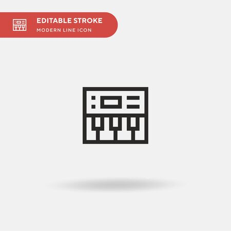 Piano Simple vector icon. Illustration symbol design template for web mobile UI element. Perfect color modern pictogram on editable stroke. Piano icons for your business project Stock fotó - 150520607