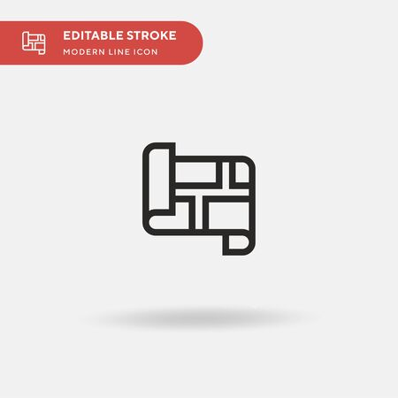 Map Simple vector icon. Illustration symbol design template for web mobile UI element. Perfect color modern pictogram on editable stroke. Map icons for your business project Ilustracja
