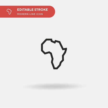 Africa Simple vector icon. Illustration symbol design template for web mobile UI element. Perfect color modern pictogram on editable stroke. Africa icons for your business project Ilustracja