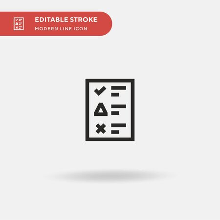 Report Simple vector icon. Illustration symbol design template for web mobile UI element. Perfect color modern pictogram on editable stroke. Report icons for your business project