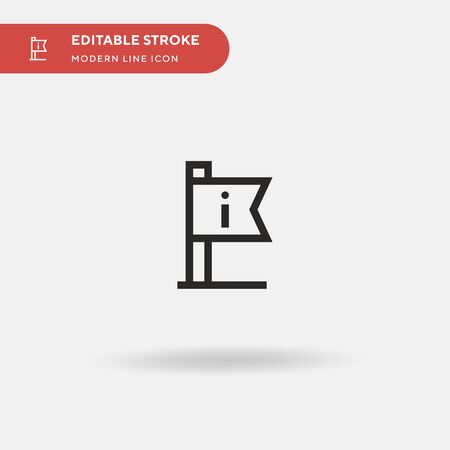 Information Simple vector icon. Illustration symbol design template for web mobile UI element. Perfect color modern pictogram on editable stroke. Information icons for your business project