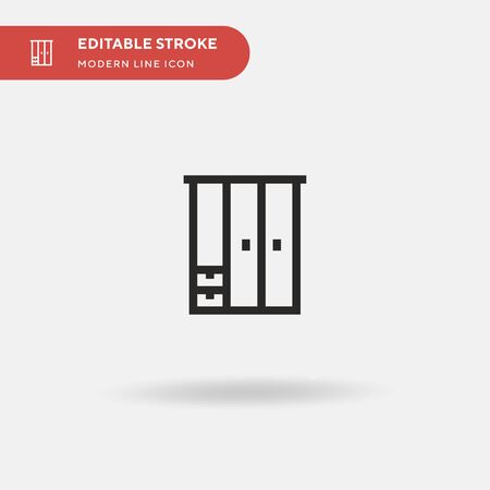 Wardrobe Simple vector icon. Illustration symbol design template for web mobile UI element. Perfect color modern pictogram on editable stroke. Wardrobe icons for your business project  イラスト・ベクター素材