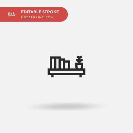 Shelf Simple vector icon. Illustration symbol design template for web mobile UI element. Perfect color modern pictogram on editable stroke. Shelf icons for your business project