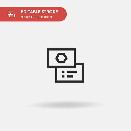 Business Card Simple vector icon. Illustration symbol design template for web mobile UI element. Perfect color modern pictogram on editable stroke. Business Card icons for your business project Ilustrace