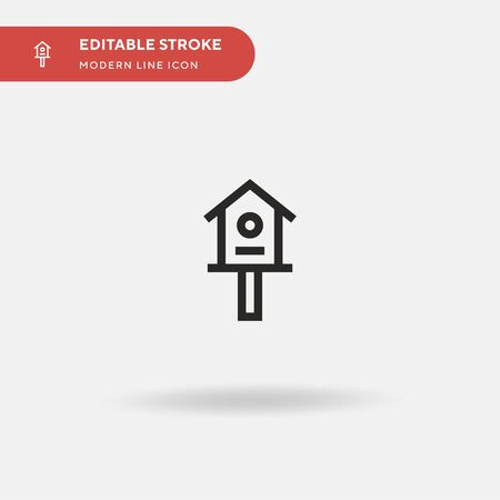 Aviary Simple vector icon. Illustration symbol design template for web mobile UI element. Perfect color modern pictogram on editable stroke. Aviary icons for your business project