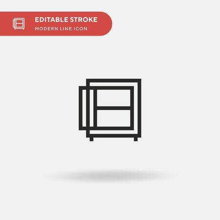 Strongbox Simple vector icon. Illustration symbol design template for web mobile UI element. Perfect color modern pictogram on editable stroke. Strongbox icons for your business project Ilustrace