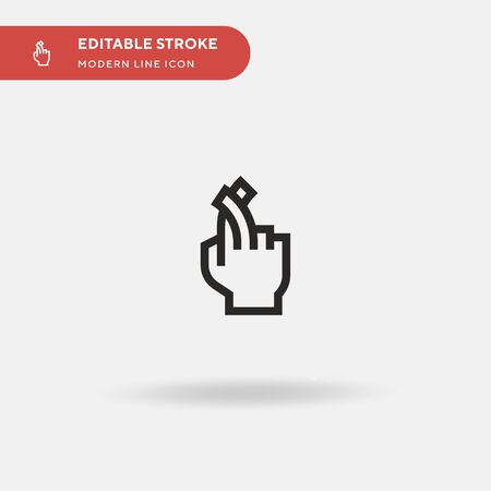 Crossing Fingers Simple vector icon. Illustration symbol design template for web mobile UI element. Perfect color modern pictogram on editable stroke. Crossing Fingers icons for your business project