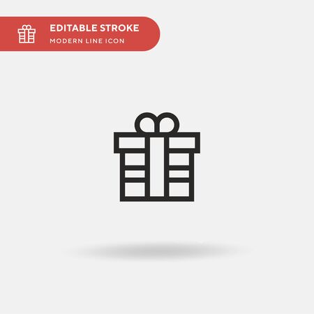 Gift Simple vector icon. Illustration symbol design template for web mobile UI element. Perfect color modern pictogram on editable stroke. Gift icons for your business project Illustration