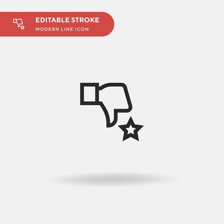 Dislike Simple vector icon. Illustration symbol design template for web mobile UI element. Perfect color modern pictogram on editable stroke. Dislike icons for your business project Çizim