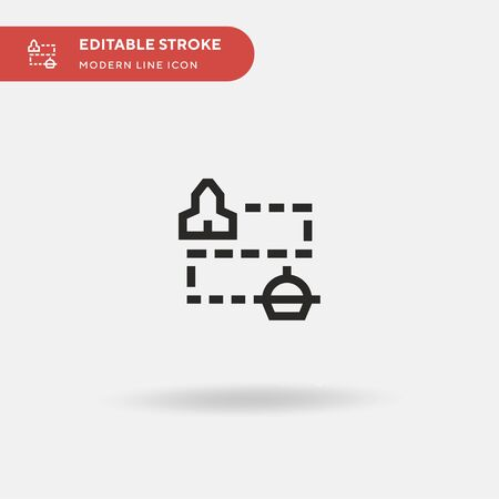 Map Simple vector icon. Illustration symbol design template for web mobile UI element. Perfect color modern pictogram on editable stroke. Map icons for your business project Иллюстрация