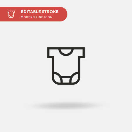 Baby Body Simple vector icon. Illustration symbol design template for web mobile UI element. Perfect color modern pictogram on editable stroke. Baby Body icons for your business project