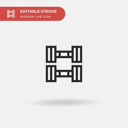 Weights Simple vector icon. Illustration symbol design template for web mobile UI element. Perfect color modern pictogram on editable stroke. Weights icons for your business project Illustration